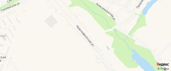 Краснофлотская улица на карте Дятьково с номерами домов