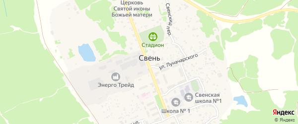 Территория сдт Озерное-2 на карте поселка Свеня с номерами домов