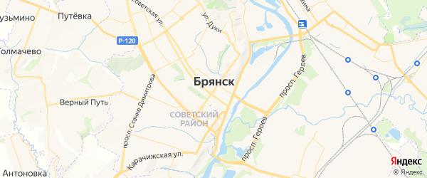 Карта Брянска с районами, улицами и номерами домов