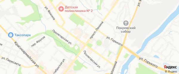 Территория ГО Орловская-22 на карте Брянска с номерами домов