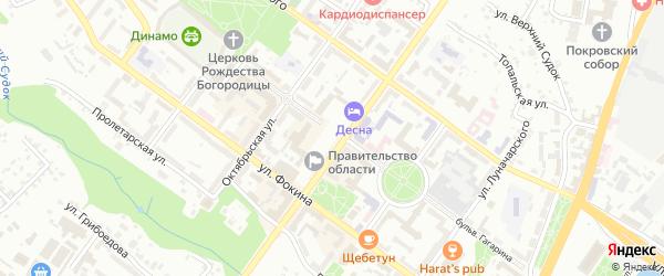 Улица Ярославского на карте Брянска с номерами домов