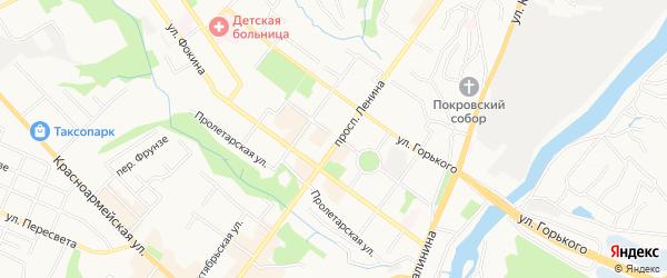 Территория СО Десна-1 на карте Брянска с номерами домов