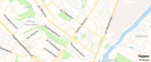 Территория Б/Г ПО УЛ. МАЛО-ОРЛОВСКОЙ на карте Брянска с номерами домов
