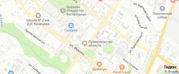 Со Земляника ул Московская территория на карте Брянска с номерами домов