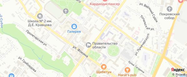 Территория ГСО Генератор на карте Брянска с номерами домов