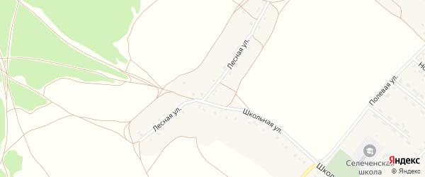 Лесная улица на карте села Селечни с номерами домов
