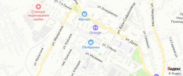 Территория ГСО По 3 Июля на карте Брянска с номерами домов