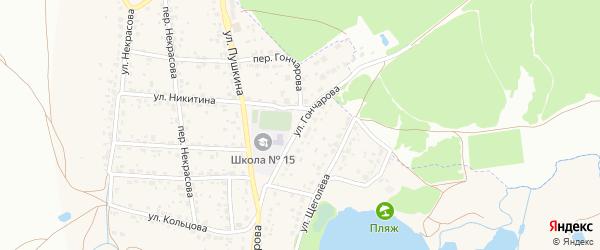 Улица Гончарова на карте поселка Радицы-Крыловки с номерами домов