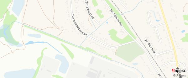 Первомайская улица на карте поселка Радицы-Крыловки с номерами домов