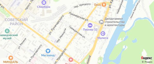 Гражданская улица на карте Брянска с номерами домов