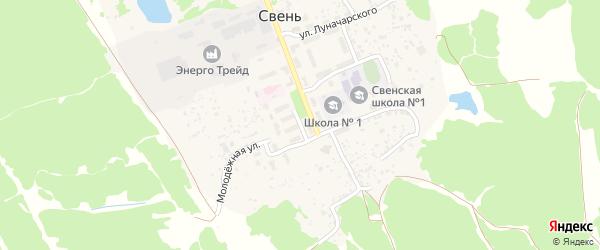 Советская улица на карте поселка Свеня с номерами домов