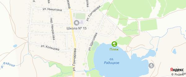 Улица Щеголева на карте поселка Радицы-Крыловки с номерами домов