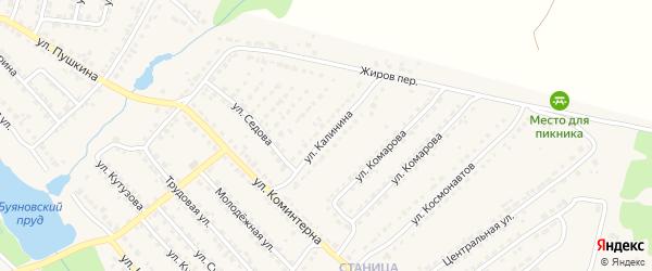 Улица Калинина на карте Дятьково с номерами домов