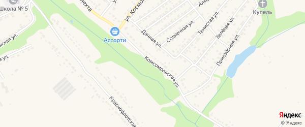 Комсомольская улица на карте Дятьково с номерами домов