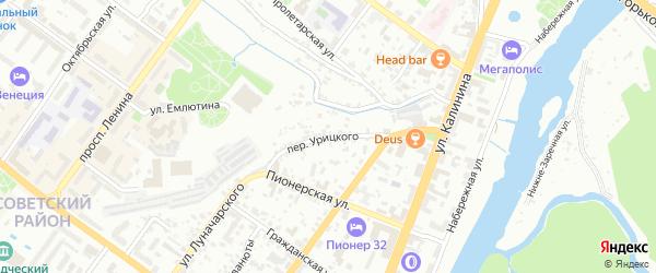 Переулок Урицкого на карте Брянска с номерами домов