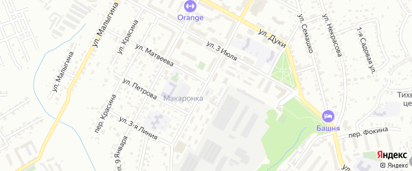 Улица Вали Сафроновой на карте Брянска с номерами домов