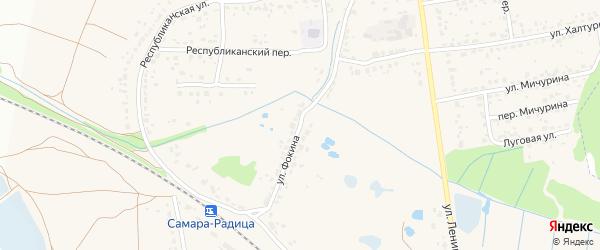 Улица Фокина на карте поселка Радицы-Крыловки с номерами домов