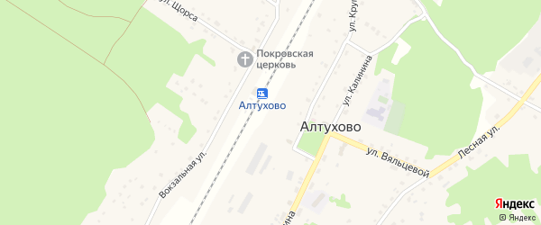 Улица Ленина на карте поселка Алтухово с номерами домов