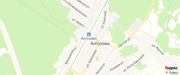 Карта поселка Алтухово в Брянской области с улицами и номерами домов
