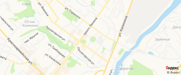 Территория СО им Гагарина на карте Брянска с номерами домов
