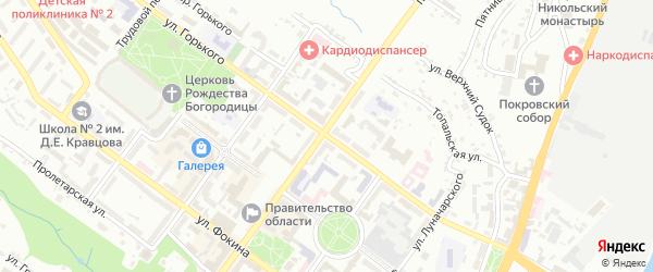 Улица Горького на карте Брянска с номерами домов