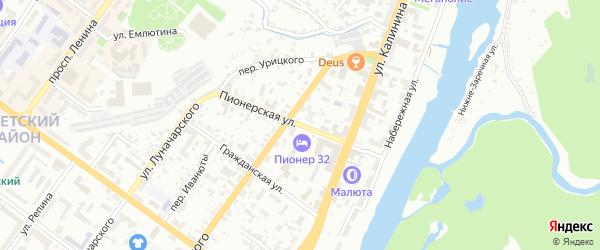 Пионерская улица на карте Брянска с номерами домов