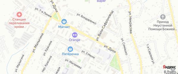 Улица Дуки на карте Брянска с номерами домов