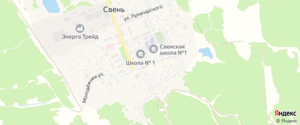 Клубная улица на карте поселка Свеня с номерами домов