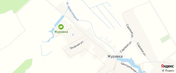 Карта села Журавки в Брянской области с улицами и номерами домов