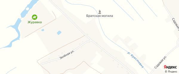 Центральная улица на карте села Журавки с номерами домов