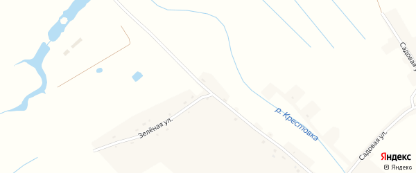 Зеленая улица на карте села Журавки с номерами домов