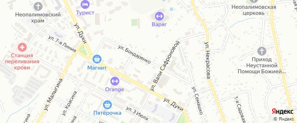 Улица Бондаренко на карте Брянска с номерами домов