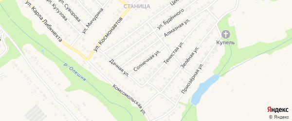 Солнечная улица на карте Дятьково с номерами домов