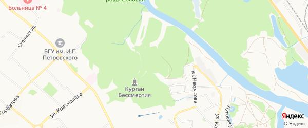 Территория ГО Петровское на карте Брянска с номерами домов