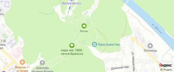Территория ГО Металлист на карте Брянска с номерами домов