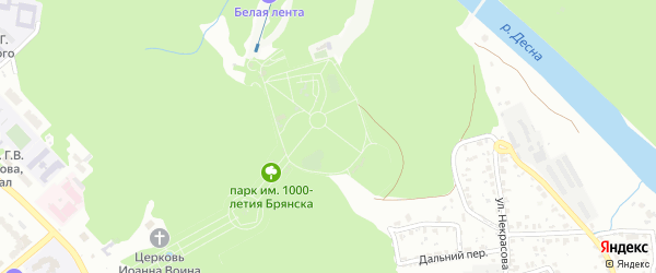 Территория ГО Харьковская-3 на карте Брянска с номерами домов
