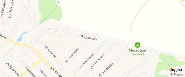 Переулок Жиров на карте Дятьково с номерами домов