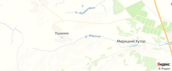 Карта территории Пушкинского сельского поселения Брянской области с районами, улицами и номерами домов