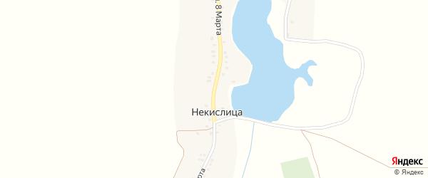 Улица 8 Марта на карте села Некислицы с номерами домов