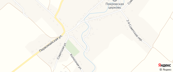 1-й Советский переулок на карте села Селечни с номерами домов