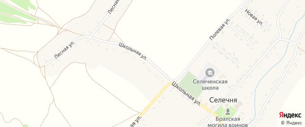 Школьная улица на карте села Селечни с номерами домов
