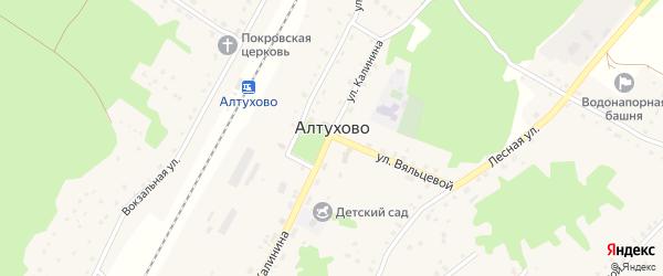 Советская улица на карте поселка Алтухово с номерами домов