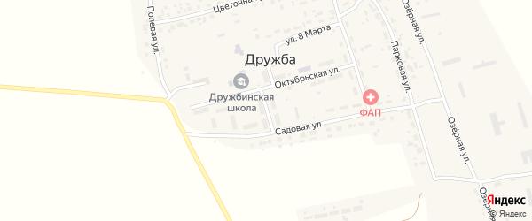 Советская улица на карте поселка Дружбы с номерами домов