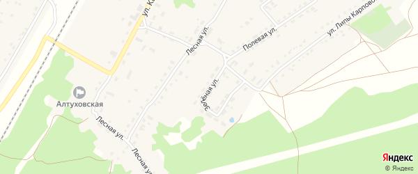 Зеленая улица на карте поселка Алтухово с номерами домов