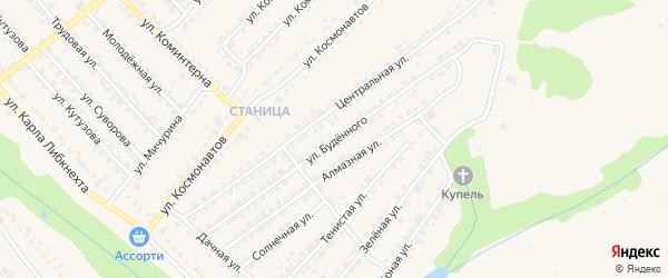 Улица Буденного на карте Дятьково с номерами домов