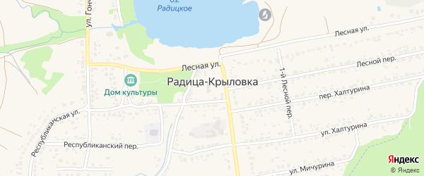 2-й Лесной переулок на карте поселка Радицы-Крыловки с номерами домов