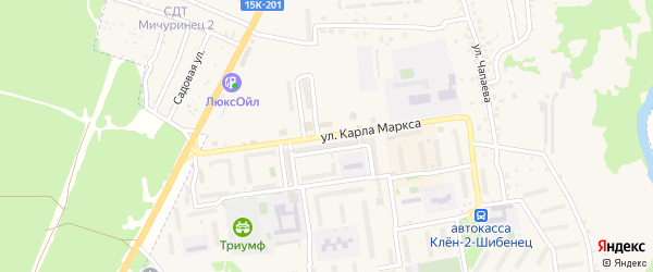 Улица Карла Маркса на карте Фокино с номерами домов