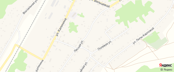 Лесная улица на карте поселка Алтухово с номерами домов