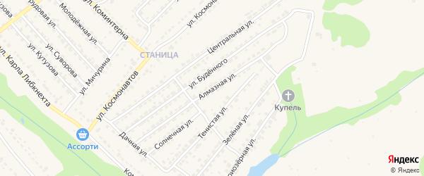 Алмазная улица на карте Дятьково с номерами домов