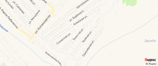 Тенистая улица на карте Дятьково с номерами домов